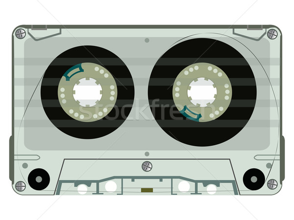 audio tape casette isolated on white Stock photo © robertosch