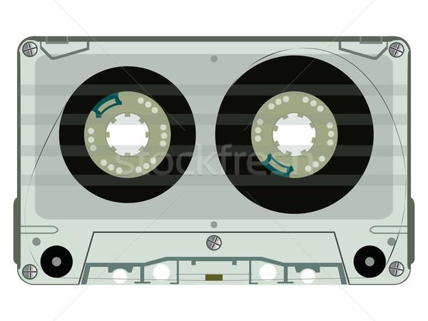 Audio taśmy odizolowany biały streszczenie wektora Zdjęcia stock © robertosch