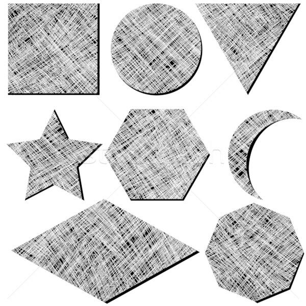 Geometryczny biały streszczenie sztuki ilustracja Zdjęcia stock © robertosch