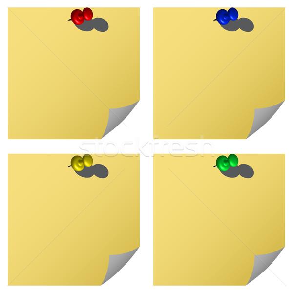 push pins and notes Stock photo © robertosch