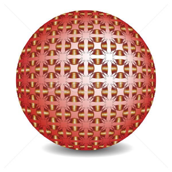красный пузыря белый аннотация вектора искусства Сток-фото © robertosch