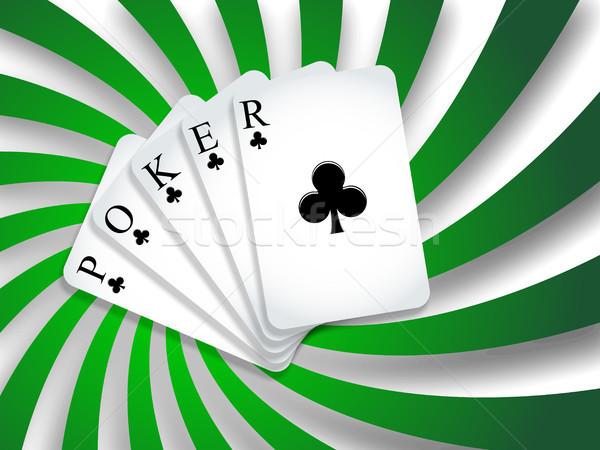 Pôquer sombras verde abstrato vetor Foto stock © robertosch