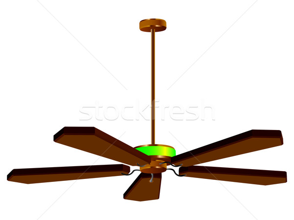 Stock photo: ceiling fan lamp isolated