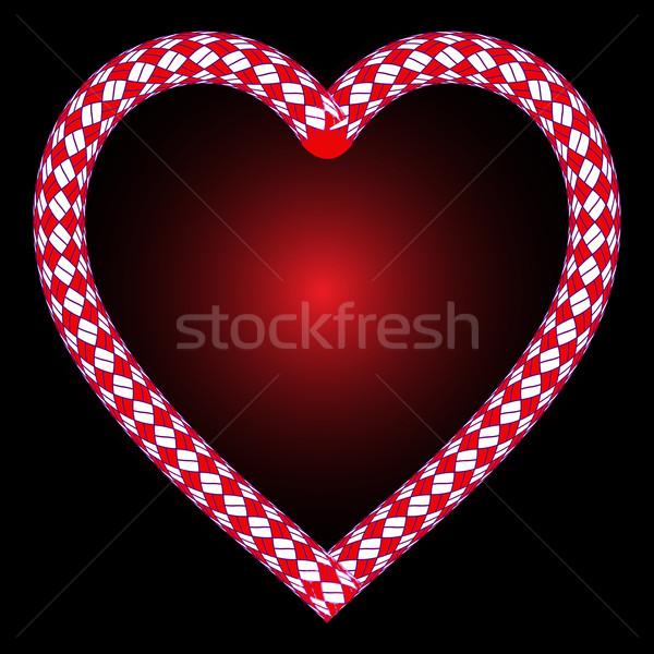 скалолазания веревку сердце черный аннотация вектора Сток-фото © robertosch