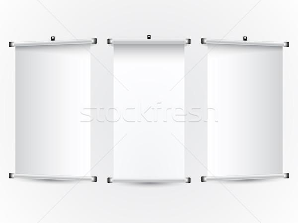 Rollen omhoog banners abstract vector kunst Stockfoto © robertosch