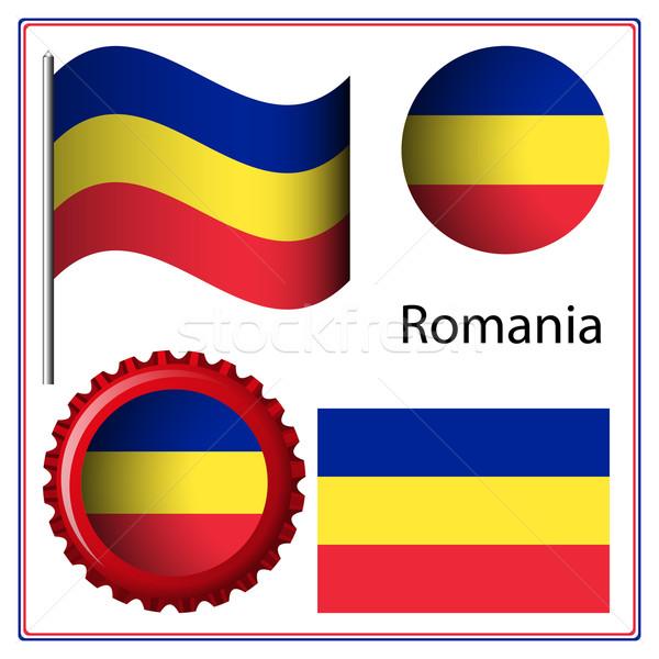 Roemenië grafische ingesteld witte vector kunst Stockfoto © robertosch