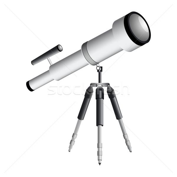 телескопом белый аннотация вектора искусства Сток-фото © robertosch