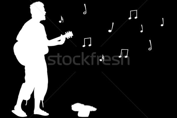 guitar guy singing Stock photo © robertosch