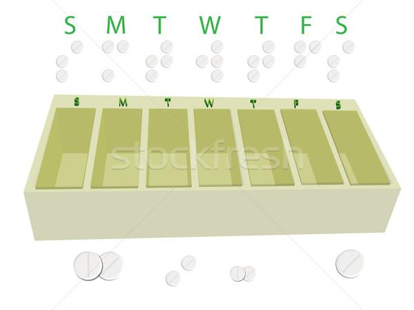 pills calendar Stock photo © robertosch