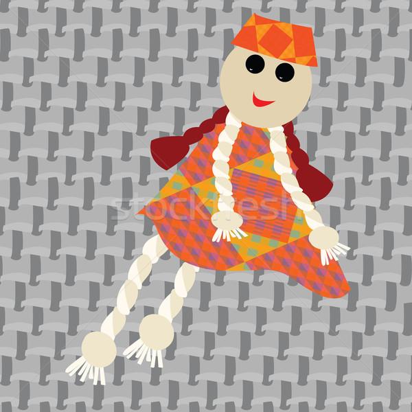 Fantoche little girl vetor arte ilustração mais Foto stock © robertosch