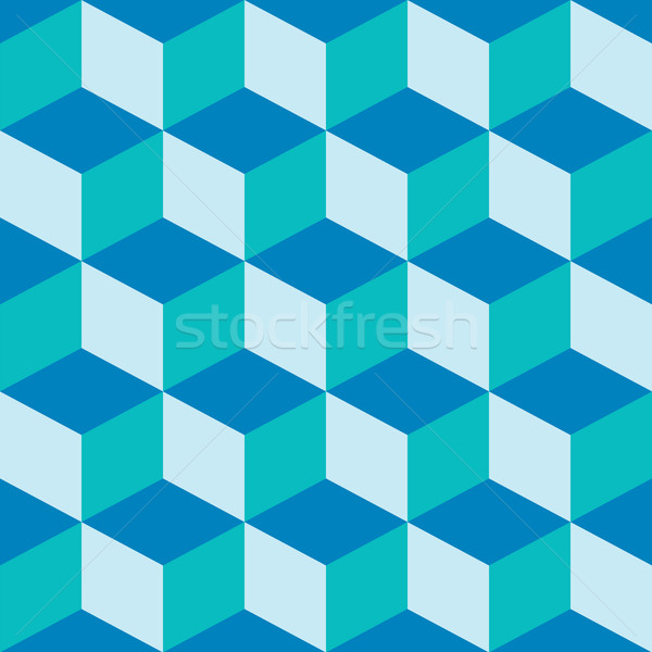 psychedelic pattern mixed blue Stock photo © robertosch