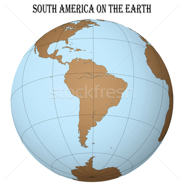 south america on the earth Stock photo © robertosch