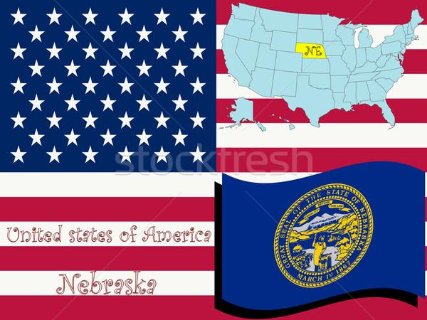Nebraska ilustração abstrato vetor arte mapa Foto stock © robertosch