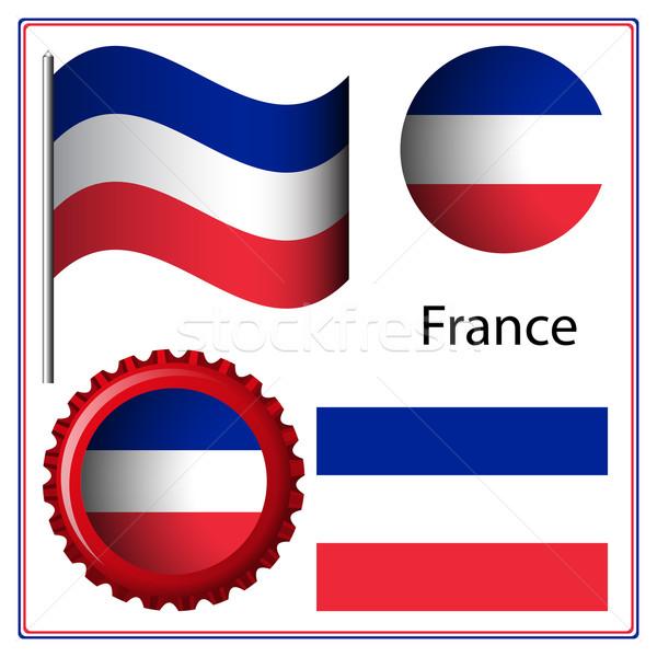 Франция графических набор белый вектора искусства Сток-фото © robertosch