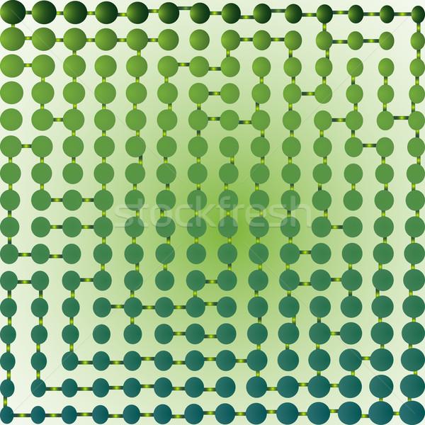Half doolhof groene abstract kunst illustratie Stockfoto © robertosch