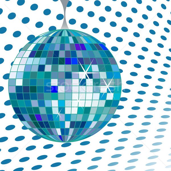 Disco ball Blauw vector kunst illustratie meer Stockfoto © robertosch