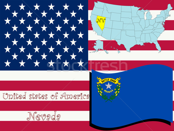 Nevada örnek soyut vektör sanat harita Stok fotoğraf © robertosch