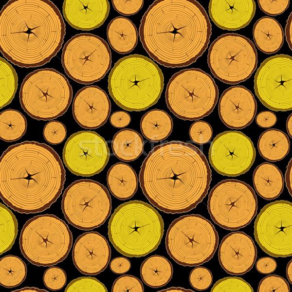 Hout zwarte abstract textuur vector Stockfoto © robertosch