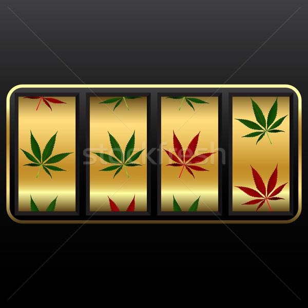 Cannabis játékautomata absztrakt vektor művészet illusztráció Stock fotó © robertosch