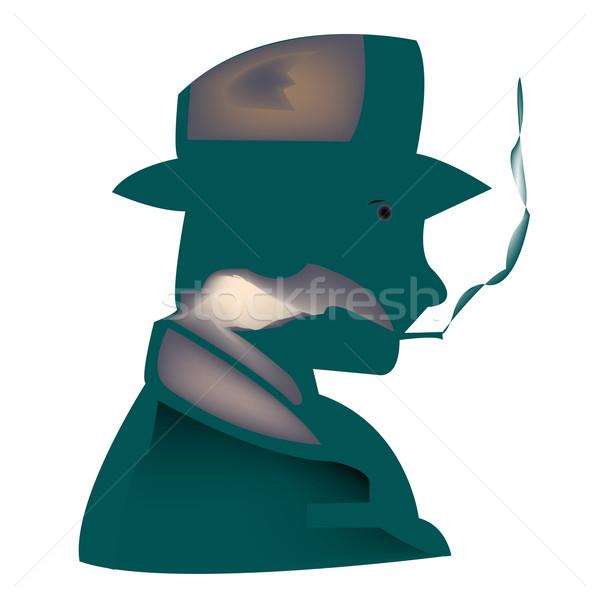 Sigara tiryakisi stilize vektör sanat örnek daha fazla Stok fotoğraf © robertosch