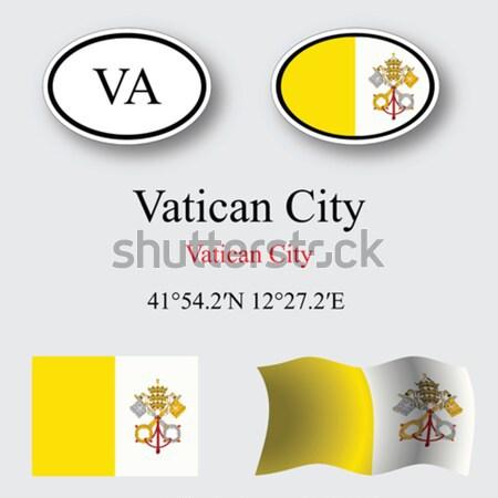 Ватикан графических набор белый вектора искусства Сток-фото © robertosch