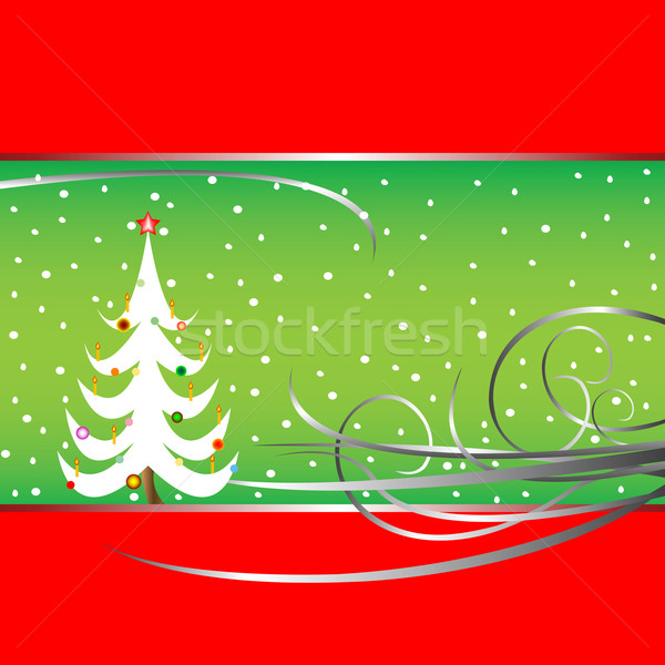 christmas tree card 3 Stock photo © robertosch