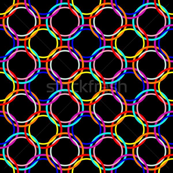 Circles bezszwowy streszczenie wzór wektora Zdjęcia stock © robertosch
