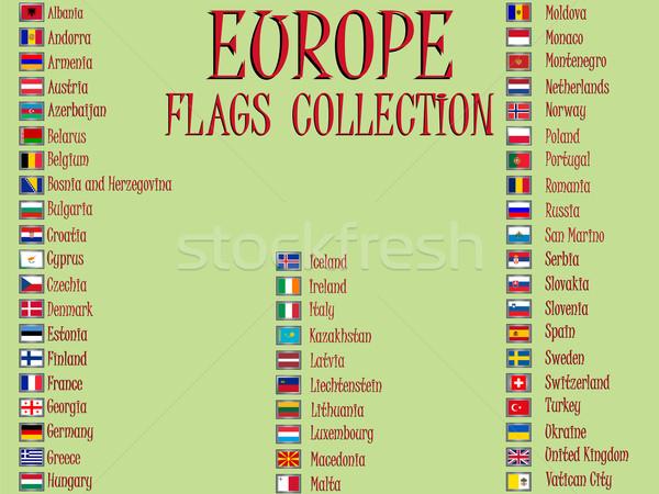 europe flags collection Stock photo © robertosch