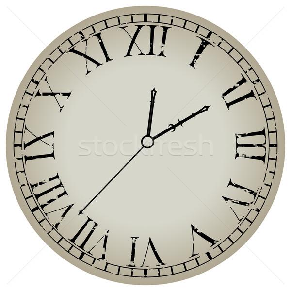 Antigo relógio branco abstrato vetor arte Foto stock © robertosch
