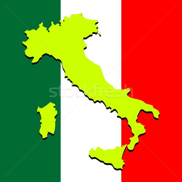 italy map over national colors Stock photo © robertosch