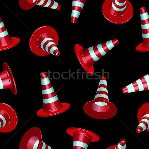 traffic cones pattern Stock photo © robertosch