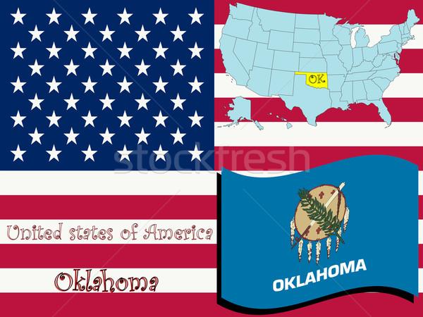 Oklahoma illustratie abstract vector kunst kaart Stockfoto © robertosch