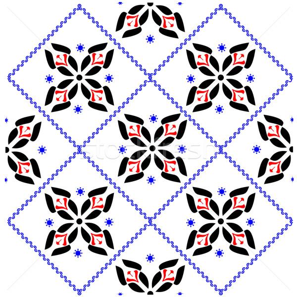 Modello di fiore abstract senza soluzione di continuità texture arte illustrazione Foto d'archivio © robertosch