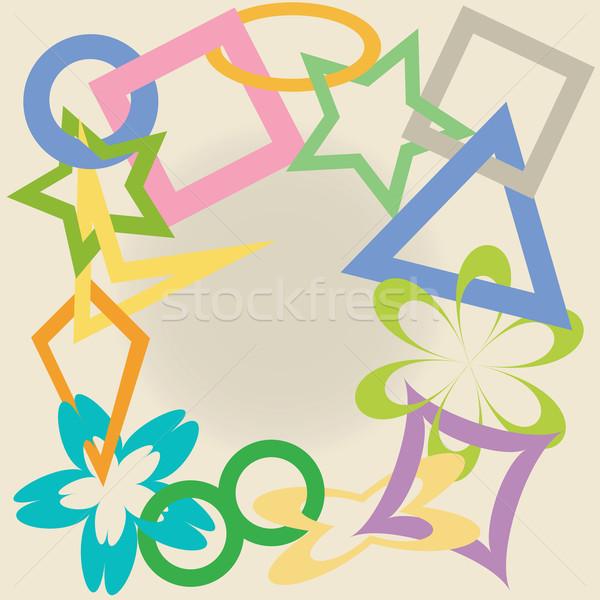 Geometryczny streszczenie sztuki ilustracja star Zdjęcia stock © robertosch
