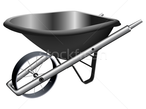 metallic wheel barrow Stock photo © robertosch