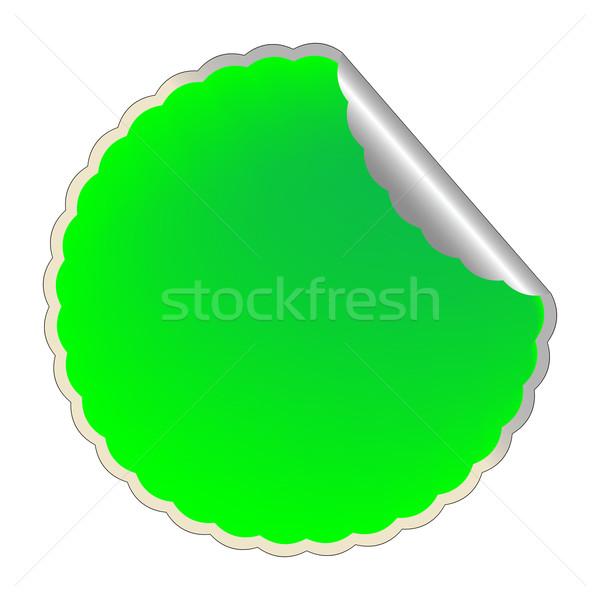 Zöld címke vektor művészet illusztráció terv Stock fotó © robertosch