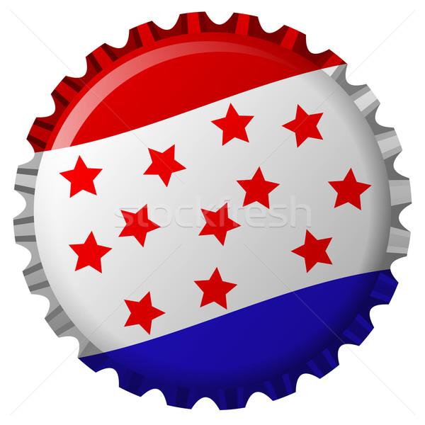 стилизованный бутылку Cap Соединенные Штаты флаг изолированный Сток-фото © robertosch