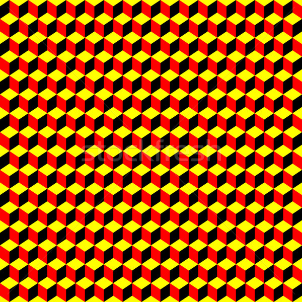 psychedelic pattern black-red-yellow Stock photo © robertosch