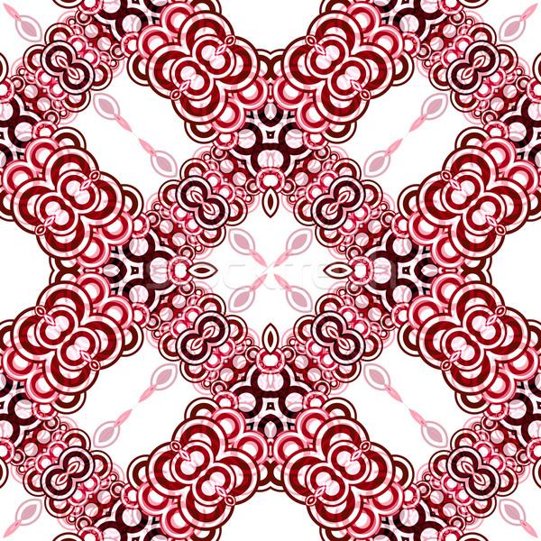 Naadloos textuur abstract patroon vector kunst Stockfoto © robertosch