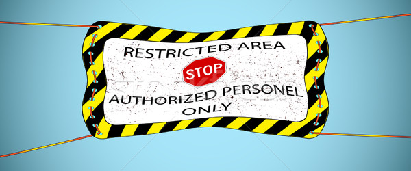 restricted area hanged banner Stock photo © robertosch
