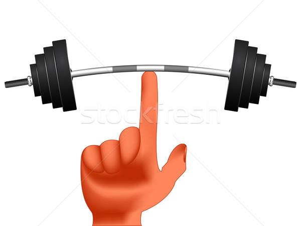 Ujj tart súlyok fehér absztrakt vektor Stock fotó © robertosch