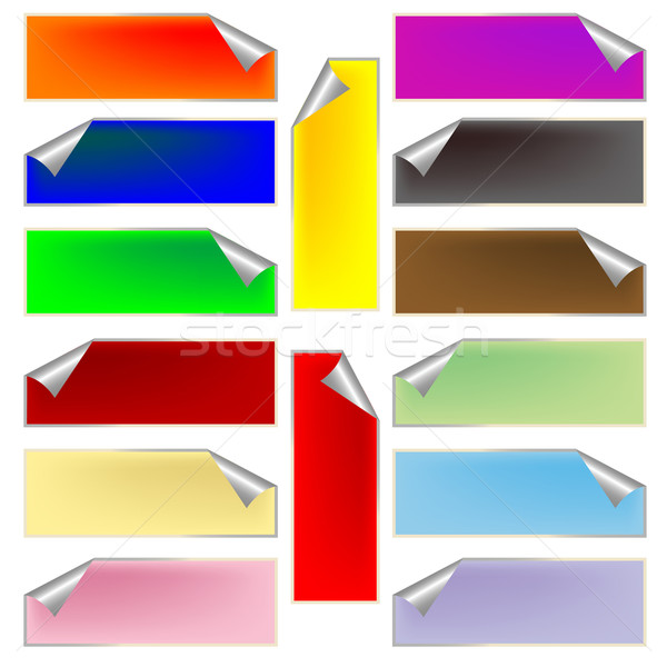 fresh rectangular labels Stock photo © robertosch