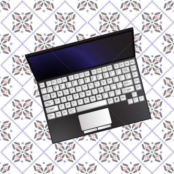 Laptop textuur abstract vector kunst illustratie Stockfoto © robertosch