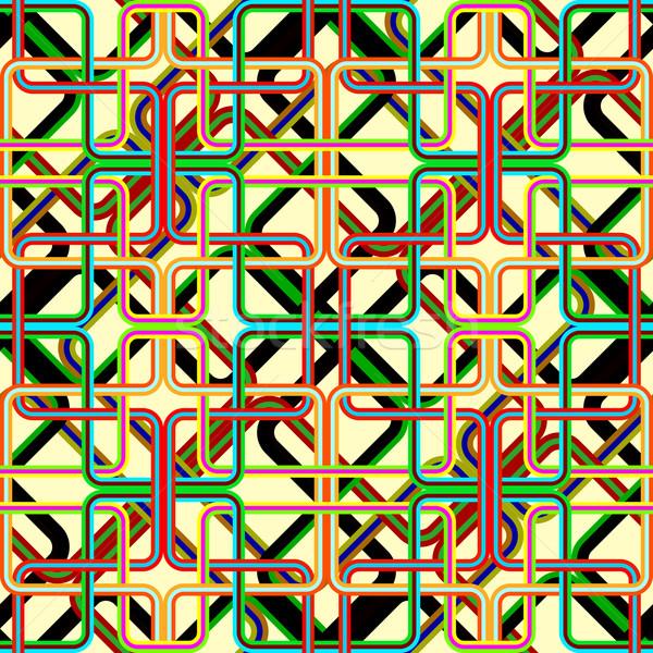 retro stripes pattern Stock photo © robertosch