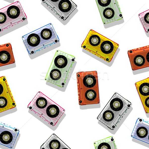 аудио шаблон аннотация бесшовный текстуры вектора Сток-фото © robertosch