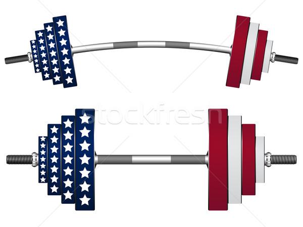 Banderą wagi biały streszczenie wektora sztuki Zdjęcia stock © robertosch