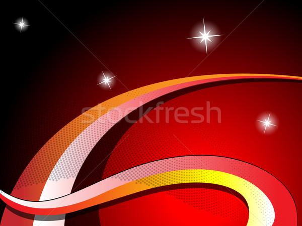 волны звезды аннотация вектора искусства иллюстрация Сток-фото © robertosch