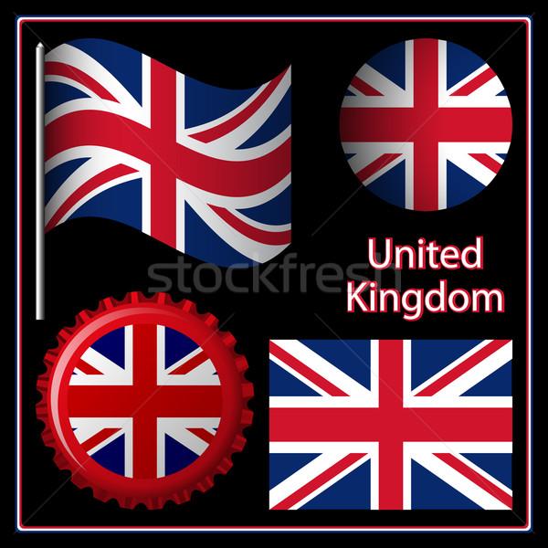 Foto stock: Inglaterra · gráfico · conjunto · preto · imagem · abstrato