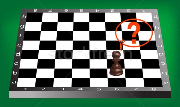 Pionek szachownica streszczenie wektora sztuki ilustracja Zdjęcia stock © robertosch