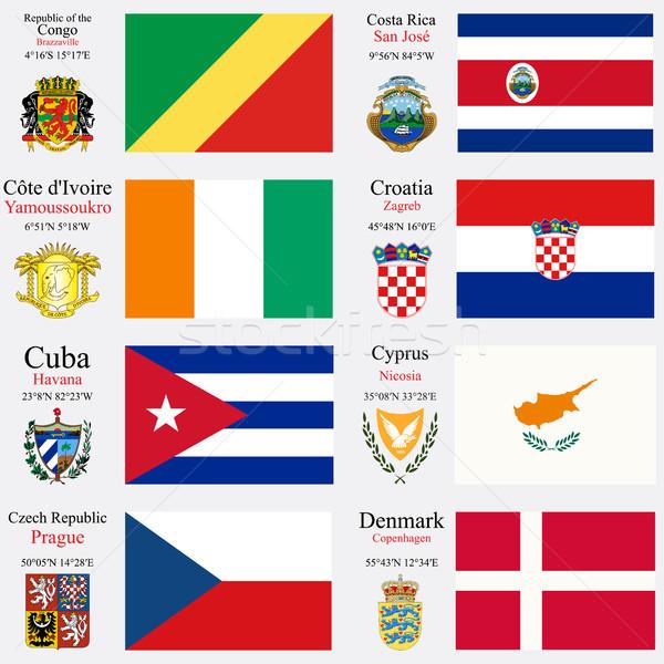 world flags and capitals set 6 Stock photo © robertosch